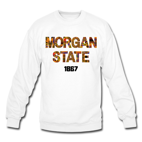 Morgan State University Rep U Heritage Crewneck Sweatshirt - white