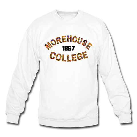 Morehouse College Rep U Heritage Crewneck Sweatshirt - white