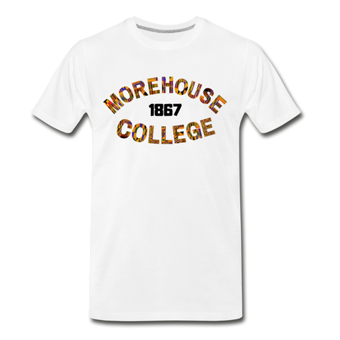Morehouse College Rep U Heritage T-Shirt - white