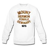 Mount Hermon Female Seminary Rep U Heritage Crewneck Sweatshirt - white