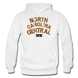 North Carolina Central University Rep U Heritage Adult Hoodie - white