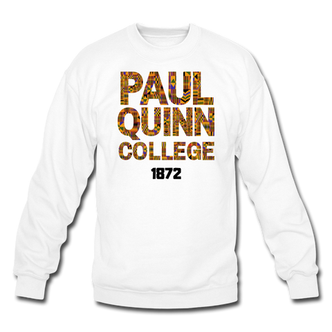 Paul Quinn College Rep U Heritage Crewneck Sweatshirt - white