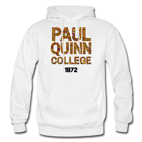 Paul Quinn College Rep U Heritage Adult Hoodie - white