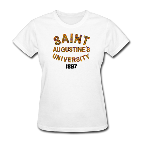 Saint Augustine's University Rep U Heritage Women's T-Shirt - white