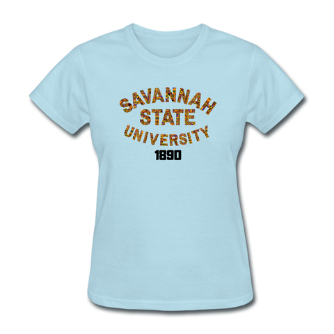Savannah State University Rep U Heritage Women's T-Shirt - powder blue