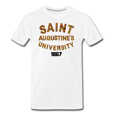 Saint Augustine's University Rep U Heritage T-Shirt - white