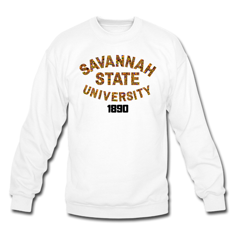 Savannah State University Rep U Heritage Crewneck Sweatshirt - white