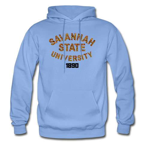 Savannah State University Rep U Heritage Adult Hoodie - carolina blue