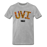University of the Virgin Islands (UVI) Rep U Heritage T-Shirt - heather gray