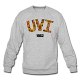 University of the Virgin Islands (UVI) Rep U Heritage Crewneck Sweatshirt - heather gray