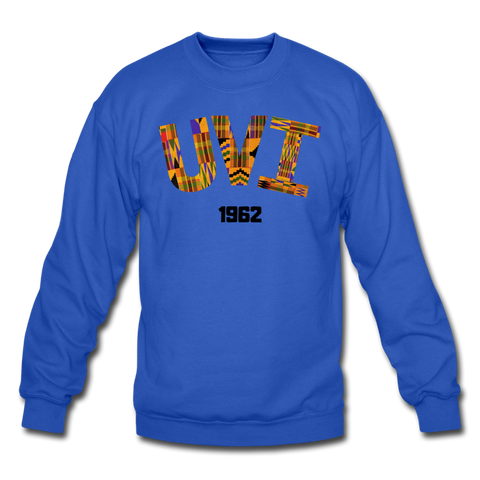 University of the Virgin Islands (UVI) Rep U Heritage Crewneck Sweatshirt - royal blue