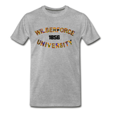 Wilberforce University Rep U Heritage T-Shirt - heather gray