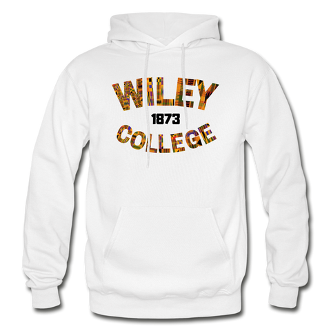 Wiley College Rep U Heritage Adult Hoodie - white