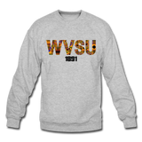 West Virginia State University (WVSU) Rep U Heritage Crewneck Sweatshirt - heather gray