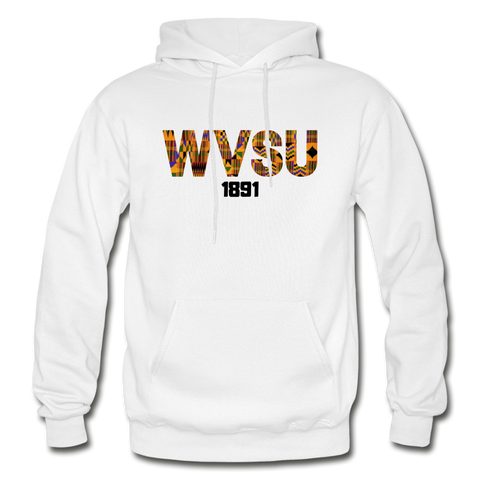 West Virginia State University (WVSU) Rep U Heritage Adult Hoodie - white