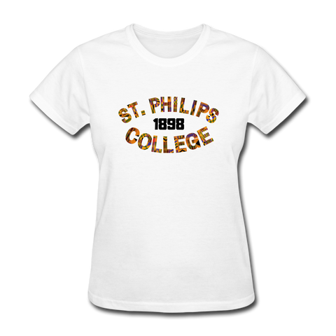 St. Philips College Rep U Heritage Women's T-Shirt - white