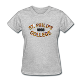 St. Philips College Rep U Heritage Women's T-Shirt - heather gray