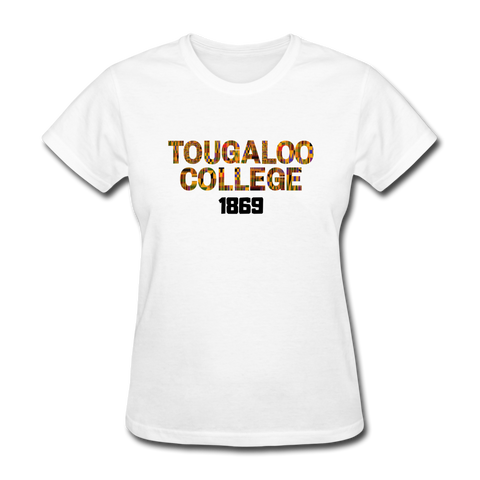 Tougaloo College Rep U Heritage Women's T-Shirt - white