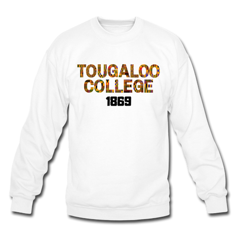 Tougaloo College Rep U Heritage Crewneck Sweatshirt - white