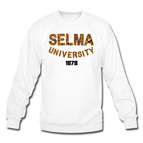 Selma University Rep U Heritage Crewneck Sweatshirt - white