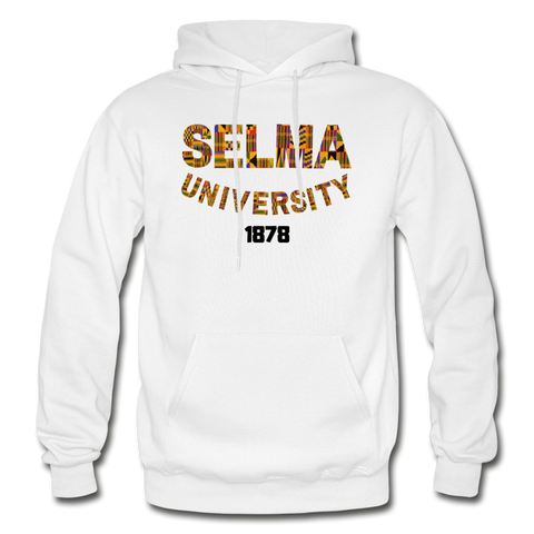 Selma University Rep U Heritage Adult Hoodie - white