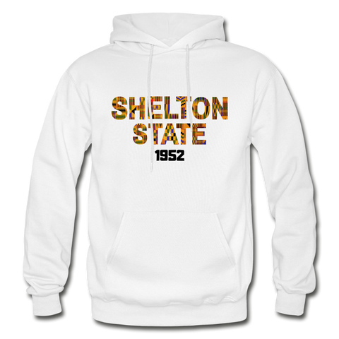 Shelton State Community College Rep U Heritage Adult Hoodie - white