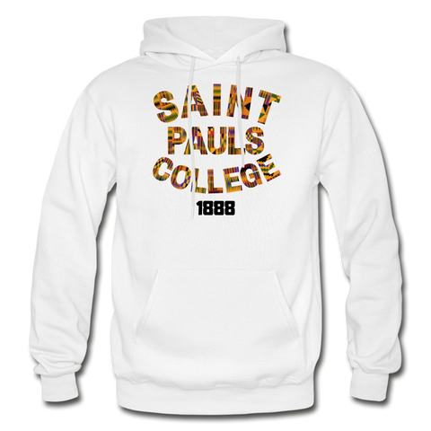 Saint Pauls College Rep U Heritage Adult Hoodie - white