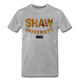 Shaw University Rep U Heritage T-Shirt - heather gray