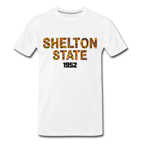 Shelton State Community College Rep U Heritage T-Shirt - white