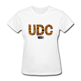 University of the District of Columbia (UDC) Rep U Heritage Women's T-Shirt - white