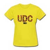 University of the District of Columbia (UDC) Rep U Heritage Women's T-Shirt - yellow