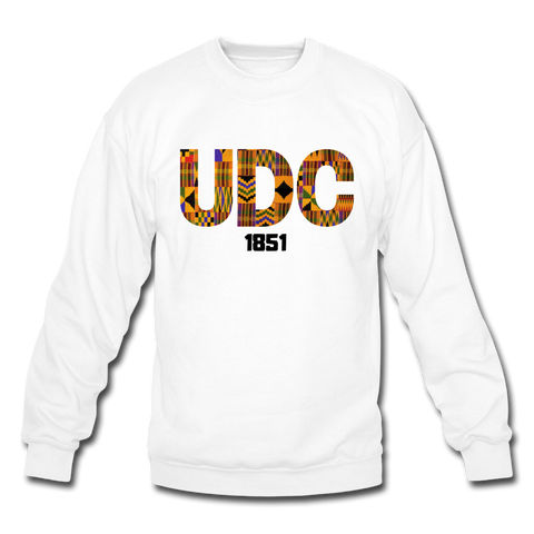 University of the District of Colombia (UDC) Rep U Heritage Crewneck Sweatshirt - white