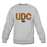 University of the District of Colombia (UDC) Rep U Heritage Crewneck Sweatshirt - heather gray