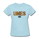 University of Maryland Eastern Shore (UMES) Rep U Heritage Women's T-Shirt - powder blue
