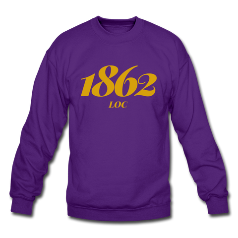 LeMoyne-Owen College Rep U Year Crewneck Sweatshirt - purple