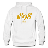 Miles College Rep U Year Adult Hoodie - white