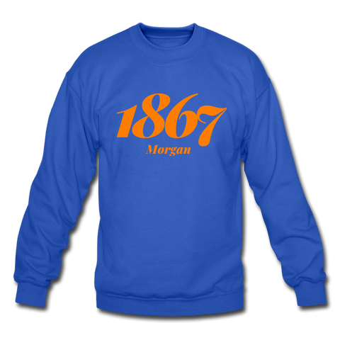 Morgan State University Rep U Year Crewneck Sweatshirt - royal blue