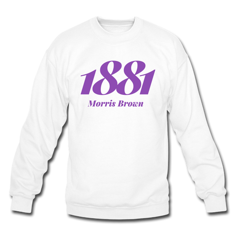 Morris Brown College Rep U Year Crewneck Sweatshirt - white
