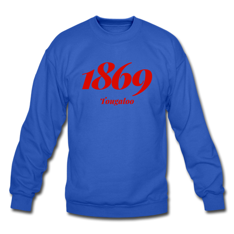 Tougaloo College Rep U Year Crewneck Sweatshirt - royal blue