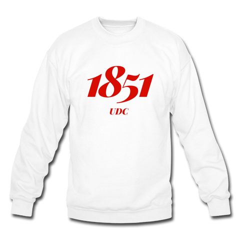 University of the District of Columbia (UDC) Rep U Year Crewneck Sweatshirt - white