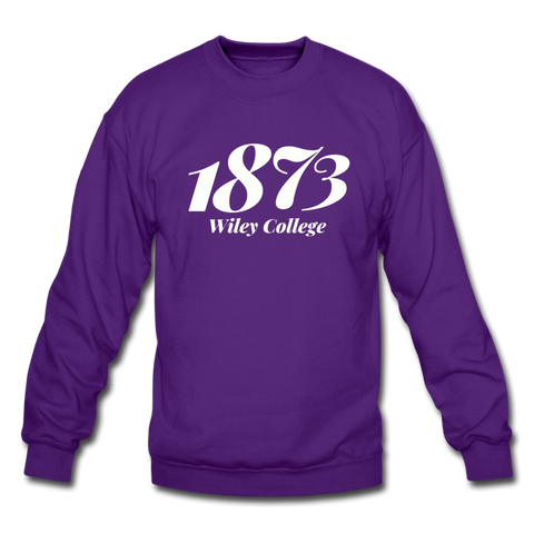 Wiley College Rep U Year Crewneck Sweatshirt - purple