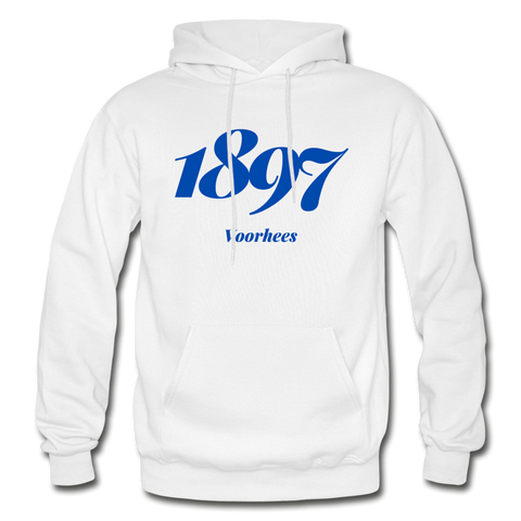 Voorhees College Rep U Year Adult Hoodie - white
