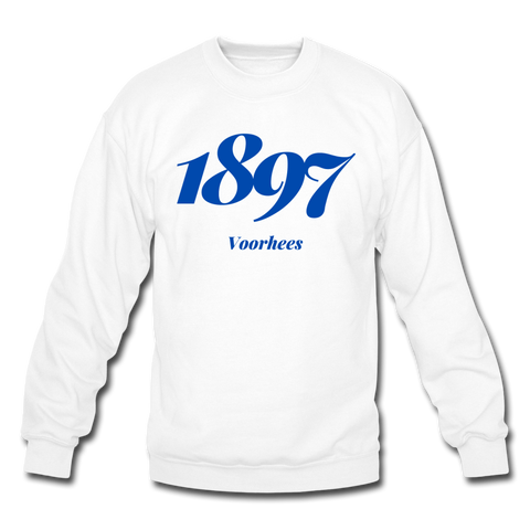 Voorhees College Rep U Year Crewneck Sweatshirt - white