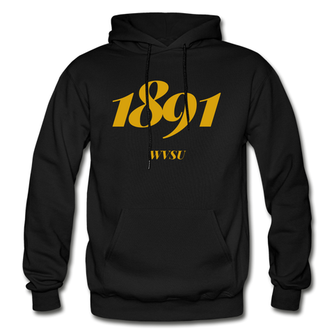 West Virginia State University (WVSU) Rep U Year Adult Hoodie - black