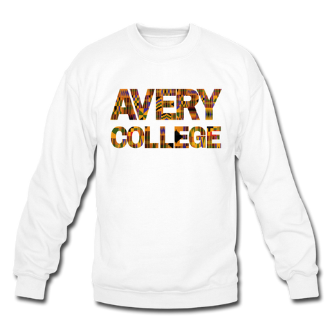 Avery College Rep U Heritage Crewneck Sweatshirt - white