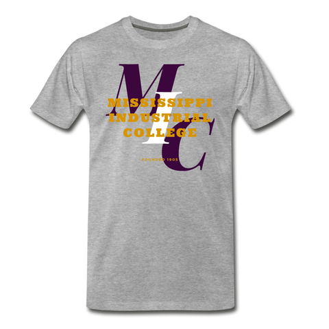 Mississippi Industrial College Classic Rep U T-Shirt - heather gray