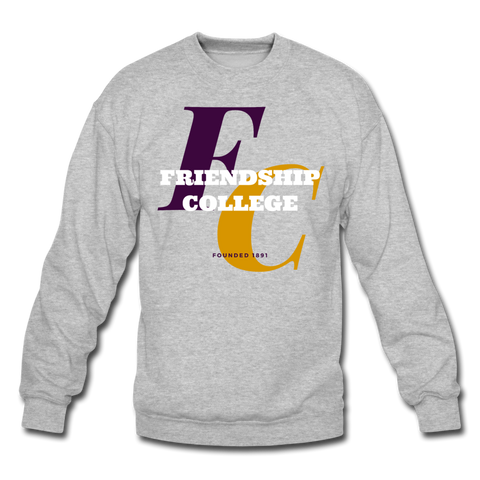 Friendship College Classic HBCU Rep U Crewneck Sweatshirt - heather gray