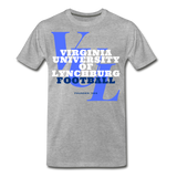 Virginia University of Lynchburg Football (VUL) Classic HBCU Rep U T-Shirt - heather gray