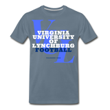 Virginia University of Lynchburg Football (VUL) Classic HBCU Rep U T-Shirt - steel blue