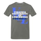 Virginia University of Lynchburg Football (VUL) Classic HBCU Rep U T-Shirt - asphalt gray